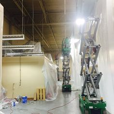 Another picture from the Harley Davidson job in Elgin, SC. We had to repaint all the ceilings. The crew could only work at night because the shop was still open during the day! Drake, Ceilings, Harley Davidson, Exterior, Night, Pictures, Shopping, Photos, Outdoor Spaces