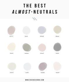 The best almost neutral colors for your branding color palette Colour Pallette, Colour Schemes, Color Combos, Color Patterns, Painting Patterns, Photo Pour Instagram, Palette Design, Neutral Paint Colors, Neutral Color Palettes