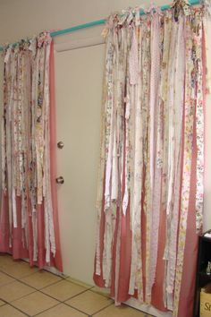Curtains/Shabby Chic Curtains/Pair/Rachel by BohoBagsNThings
