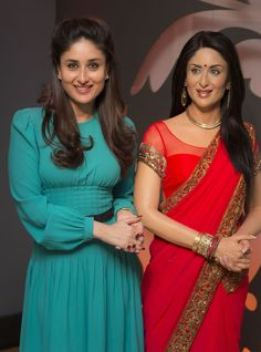 When Kareena Kapoor met herself at Madame Tussauds. Her wax statue now donning a red sari with a gold trim that she wore in 'RA. Source by Bollywood Saree, Bollywood Fashion, Bollywood Actress, Kareena Kapoor Hairstyles, Simple Kurta Designs, Red Sari, Wax Statue, Pakistani Bridal Wear, Designs For Dresses
