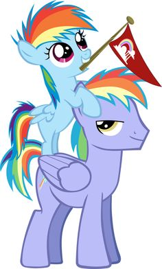 Filly Rainbow Dash and her father. My Little Dashie will make me cry! :(