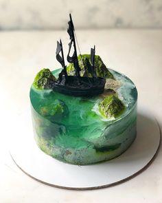 20 Creative cakes that capture an underwater island adventure Creative Cakes, Creative Food, Beautiful Cakes, Amazing Cakes, Arte Com Grey's Anatomy, Island Cake, Realistic Cakes, Ocean Cakes, Cute Baking