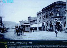 Durango Main Street in 1900