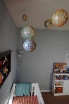Hanging globes as moblies