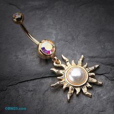 Hey, I found this really awesome Etsy listing at https://www.etsy.com/listing/191791742/golden-blazing-sun-belly-button-ring