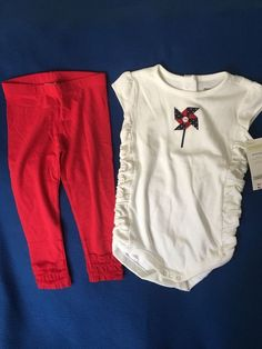 NWT Gymboree 18-24 Months Girl's Two Piece Patriotic Pinwheel Outfit Set  #Gymboree