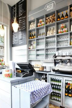 cute bakery wall shelves