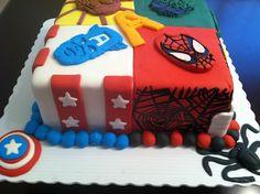Super Hero cake , advengers cake by heavenlycakesandcheesecakes, via Flickr