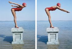 Norman Parkinson Jerry Hall, Russia, Vogue (diptych) (1975)