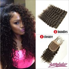 Mqyq #27 Honey Blonde 3 Bundles Malaysian Curly Human Hair With Lace Closure Kinky Curly Human Hair Bundles With Lace Closure Promoting Health And Curing Diseases 3/4 Bundles With Closure