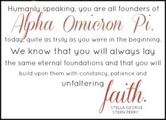 beautifully said by our founder Stella George Stern Perry