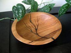 Holzschale Rising-Baum Brandmalerei Design Modern von KDGArt