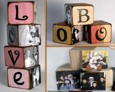 Looking for a cute way of displaying photos? Why not make these DIY Photo Blocks?  View the full album of this project including a link to instructions on our site at http://theownerbuildernetwork.co/35t8  Feeling inspired?