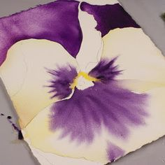 Birgit O'Connor Watercolor: Painting a Pansy: Step-by-step