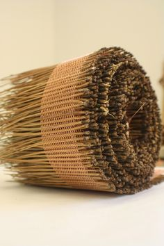 Here is a 6 yard length of the pine needle weaving that I am working on. This is one of the longer strands that will be used for the larger overall sculpture (sketch shown). In this weaving I use. Inkle Weaving, Weaving Art, Wire Weaving, Basket Weaving, Hand Weaving, Pine Needle Crafts, Contemporary Baskets, Crafty Hobbies, Rope Rug
