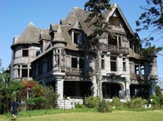 The creepiest house on the market - EVER  www.house-crazy.com  This sad, neglected beauty is located on Carleton Island, New York in the Thousand Island area of the St. Lawrence River