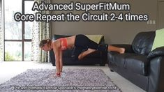 Super Fit Mom Core Core exercises circuit for fit moms. Concentrate on perfect core technique for the best results. Join our 8 week Super Fit Mum program and enjoy more than 20 x 20 min Fit Mum exercise workouts! Fitness Workouts, Fitness Goals, At Home Workouts, Exercise Workouts, Health Fitness, Core Exercises, Dumbbell Workout, Fitness Diet, Post Pregnancy
