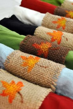 fall napkin rings-no tutorial but looks pretty simple.