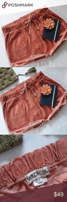 f0a8aab4bb5a Wildfox Velvet Shorts HTF!! Wildfox GORGEOUS Velvet Rose shorts distress  hem