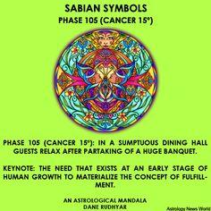 http://trendsandtransits.tumblr.com #astrology #cancer #sabiansymbol #mandala