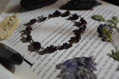 Grounding Obsidian and Garnet Beaded Bracelet Garnet, Beaded Bracelets, Ink, Etsy, Jewelry, Grenada, Jewellery Making, Jewerly, Jewelery