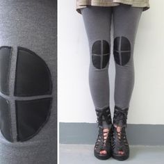 Knee Patch Leggings  Grey von iheartnorwegianwood auf Etsy