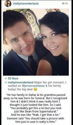 This is one of the reasons I love Jensen Ackles! ❤