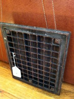 floor grate - earring display?