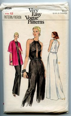 1970's Vogue 9634 Vintage Sewing Pattern Sexy by GreyDogVintage, $45.00