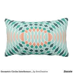 Geometric Circles Interference Pillow
