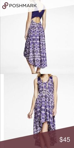 EXPRESS dress-new listing NWT HI LO IKAT DRESS Express Dresses High Low