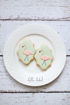 flamingo cookies | hello baked