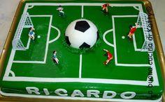 La buona cucina di Katty: Torta campo di calcio - Cake football field