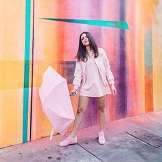 ☀️🌨Rain or shine, FILL YOUR LIFE WITH COLOR! 💓💓Like with this #allpink outfit that I purchased on @eBay. In a world of beige, don't be afraid to express who you are, your uniqueness, your personal style! So go ahead #FillYourCartWithColor from the billion listings available at any time AND find all the things that make you, YOU! ____________________________________________________ ☀️🌨Así llueva y relampaguee, ¡llena tu vida de color! Aquí estoy usando un outfit monocromático en rosado…