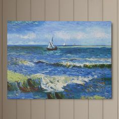 Seascape at Saintes Maries by Van Gogh Canvas Print