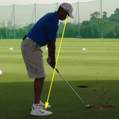 Perfect distance from the golf ball - apparent hand position.