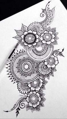 37 Ideas flowers tattoo men mandala is part of pencil-drawings - pencil-drawings Mandala Doodle, Mandala Art Lesson, Mandala Artwork, Mandala Tattoo Men, Doodle Art Drawing, Zentangle Drawings, Mandala Drawing, Pencil Art Drawings, Art Drawings Sketches