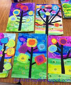 it's art day: Kandinsky Trees