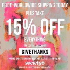 15% Off Everything + Free Shipping Worldwide : http://society6.com/georgianaparaschiv