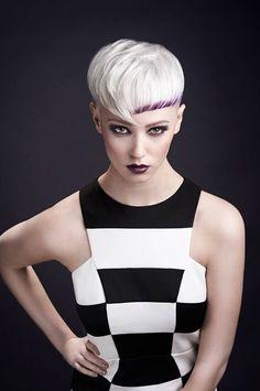#platinumblonde #blonde #hair #model #purple #fringe #photoshoot #beautiful #colour #nicolasmyth #artteam