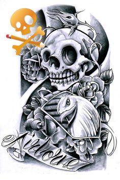 Commission - Airborne skull by WillemXSM.deviantart.com on @deviantART