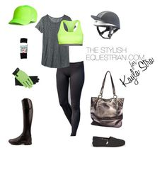 """Special Edition: The stylish equestrian for Kayla Stra"" by rachel-reunis on Polyvore featuring TOMS, B. Makowsky and NIKE"
