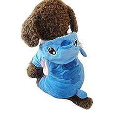Vvhome Disney Stitch Cartoon Pet Custume Coat for Small Medium Large Dogs (XL)