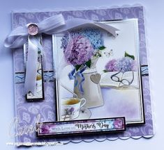 Mother's Day card made using Hunkydory Relaxing Day topper set. Designed by Carole Davis #papercraftbycarole #hunkydory