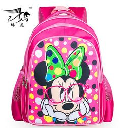 3bed1944eae2 New Minnie mouse Printing Children School Bag Cartoon Kids Backpack Shoulder  Kindergarten Schoolbag My Little Pony