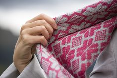 A stranded colourwork wrap inspired by the stunning mosaic pavements of Funchal.