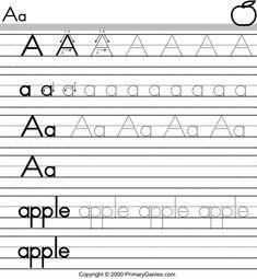 Tracing Letters of the Alphabet *a preschool teachers best friend!!