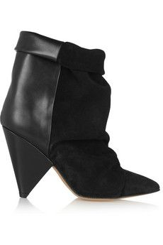Isabel Marant Andrew suede and leather ankle boots | NET-A-PORTER