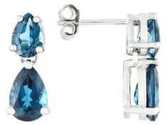 Barehipani Topaz 4.72ctw Pear Shape Sterling Silver Earrings