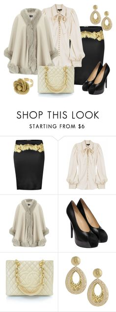 """GLAM"" by outfits-de-moda2 ❤ liked on Polyvore featuring Roberto Cavalli, Mulberry, Harrods, Charlotte Olympia, Chanel and Wet Seal"